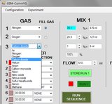 GSM-Comm - remote control application for GSM-3 Programmable Gas Mixer